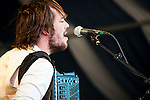Mumford and Sons perform at the New Orleans Jazz and Heritage Festival in New Orleans, Louisiana, April 29, 2011.