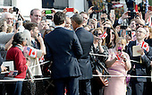 United States President Barack Obama and Prime Minister Justin Trudeau of Canada shakes hands with guests during an Official Arrival ceremony a the White House, March 10, 2016 in Washington, D.C.  <br /> Credit: Olivier Douliery / Pool via CNP