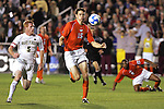 14 December 2007: Virginia Tech's Robert Edmans (ENG) (15) and Wake Forest's Pat Phelan (5). The Wake Forest University Demon Deacons defeated the Virginia Tech University Hokies 2-0 at SAS Stadium in Cary, North Carolina in a NCAA Division I Men's College Cup semifinal game.