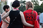 Women are seen after de Dyke march in New York June 23, 2012. Photo by Kena Betancur / VIEWpress..
