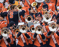 The Syracuse marching band. The Pitt Panthers defeated the Syracuse Orange 30-7 at Heinz Field, Pittsburgh, Pennsylvania on November 22, 2014.
