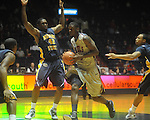 "Ole Miss' Terrance Henry (1) dribbles against Murray State forward Ivan Aska (42) at the C.M. ""Tad"" Smith Coliseum in Oxford, Miss. on Wednesday, November 17, 2010."