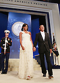 Washington, DC - January 20, 2009 -- United States President Barack Obama and his wife Michelle arrive at the Obama Homes States Ball, one of ten official inaugural balls January 20, 2009 in Washington DC.  Obama was sworn in as the 44th President of the United States today, becoming the first African-American to be elected to the presidency.  .Credit: Mark Wilson - Pool via CNP