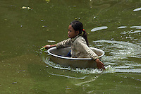 The Village Kompong Plok on the Tonle Sap Lake