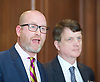 Paul Nuttall MEP <br /> UKIP Leader makes a Brexit speech #SixKeysTests at the Marriott Hotel, London, Great Britain <br /> 27th March 2017 <br /> <br /> Ahead of the Prime Minister triggering Article 50 next week, UKIP Leader Paul Nuttall sets out six key tests by which the country can judge Theresa May's Brexit negotiations in a keynote speech on this coming Monday morning.<br /> with <br /> Gerard Batten MEP<br /> <br />  <br /> Photograph by Elliott Franks <br /> Image licensed to Elliott Franks Photography Services