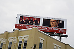 A billboard in Manchester, N.H., on Sunday, Jan. 6, 2008.