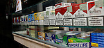 Warning labels on cigarettes in Delft, Holland