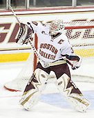 Molly Schaus (BC - 30) - The visiting Boston University Terriers defeated the Boston College Eagles 1-0 on Sunday, November 21, 2010, at Conte Forum in Chestnut Hill, Massachusetts.
