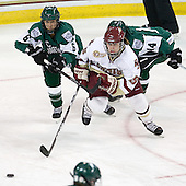 Jenna Hobeika (Dartmouth - 6), Alex Carpenter (BC - 5) - The Boston College Eagles defeated the Dartmouth College Big Green 4-3 on Sunday, October 23, 2011, at Kelley Rink in Conte Forum in Chestnut Hill, Massachusetts.