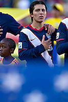 Francisco Torres of USA during the national anthems before the game against Slovenia
