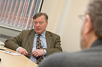 The Right Honourable Ken Clarke MP Lord Chief Justice at a visit to the Consumer Credit Counseling offices in Nottingham