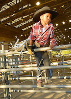 CITY OF INDUSTRY, CA - JULY 16: Cowboy attends the 32nd Annual Bill Pickett Invitational Rodeo Rides, Southern California at The Industry Hills Expo Center in the City of Industry on July 16, 2016 in the City of Industry, California. Credit: Koi Sojer/Snap'N U Photos/MediaPunch