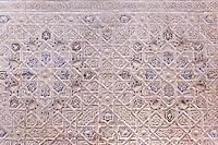 wall of room beyond Patio de los Leones, Palacio Nazaries, Alhambra, Granada, Spain