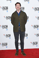 LONDON, UK. October 13, 2016: Sam Claflin at the London Film Festival photocall for &quot;Their Finest&quot; at the Mayfair Hotel, London.<br /> Picture: Steve Vas/Featureflash/SilverHub 0208 004 5359/ 07711 972644 Editors@silverhubmedia.com