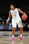 25 February 2016: Wake Forest's Ataijah Taylor. The Wake Forest University Demon Deacons hosted the Virginia Tech Hokies at Lawrence Joel Veterans Memorial Coliseum in Winston-Salem, North Carolina in a 2015-16 NCAA Division I Women's Basketball game. Virginia Tech won the game 54-48.
