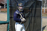 CARY, NC - MARCH 05: Notre Dame's Ryan Lidge. The Monmouth University Hawks played the University of Notre Dame Fighting Irish on March 5, 2017, at USA Baseball NTC Field 2 in Cary, NC in a Division I College Baseball game, and part of the Irish Classic tournament. Notre Dame won the game 4-0.