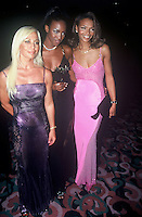 World Famous Model Naomi Campbell.pictured with her mother Valerie.and designer Donatella Versace at.a fashion awards event in NYC 1996.