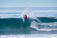 BELLS BEACH, Victoria/AUS (Monday, April 17, 2017) Jordy Smith (ZAF) - The Rip Curl Pro Bells Beach, Stop No. 3 of the World Surf League (WSL) Championship Tour (CT), was been called ON in four-to-six foot (1 - 2 metre) conditions at the world-renowned Bells Beach. Up first will be the remaining five heats of men&rsquo;s Round 3, followed by the women&rsquo;s Quarterfinals, semi's and final. Defending event winner Courtney Conlogue (USA) claimed her second Bell's bell by defeating Stephanie Gilmore (AUS) in the 40 minute final. Gilmore retains the rating lead and while be wearing he yellow leaders jersey when the tour moves to Brazil.<br /> Photo: joliphotos.com
