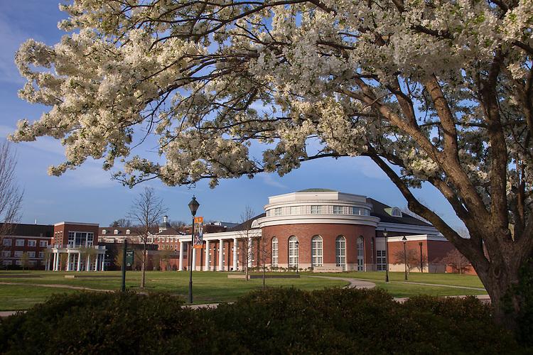 Walter Hall in the Spring at Ohio University.  Photo by Ohio University / Jonathan Adams