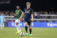 San Jose, CA - Saturday May 06, 2017: Florian Jungwirth during a Major League Soccer (MLS) match between the San Jose Earthquakes and the Portland Timbers at Avaya Stadium.
