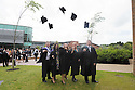 Students at Edge Hill University in Ormskirk celebrate after passing their respective degrees.<br />