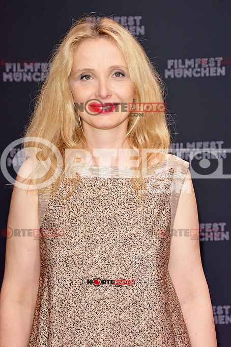 Julie Delpy in a gold glimmering lame tweed dress ow TALBOT RUNHOF attending the &quot;Starbuck&quot; opening premiere during the 30th Munich Film Festival held at the Mathaeser Filmpalast in Munich, Germany, 29.06.2012...Credit: Timm/face to face /MediaPunch*NortePhoto*<br />