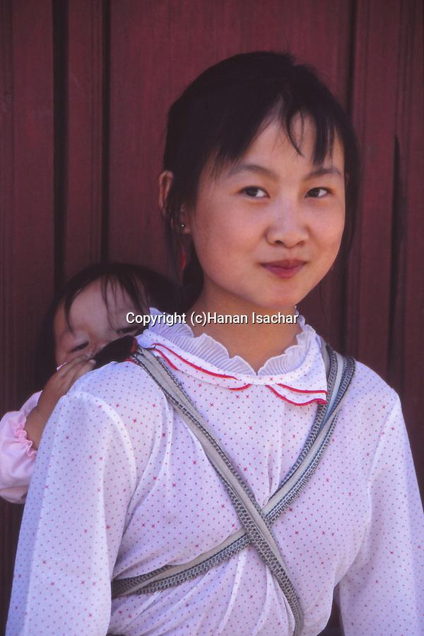 China, Bai girls in Dali, Yunnan Province