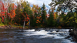 Oxtongue river. Beautiful panoramic fall nature scenery. Algonquin, Muskoka, Ontario, Canada.