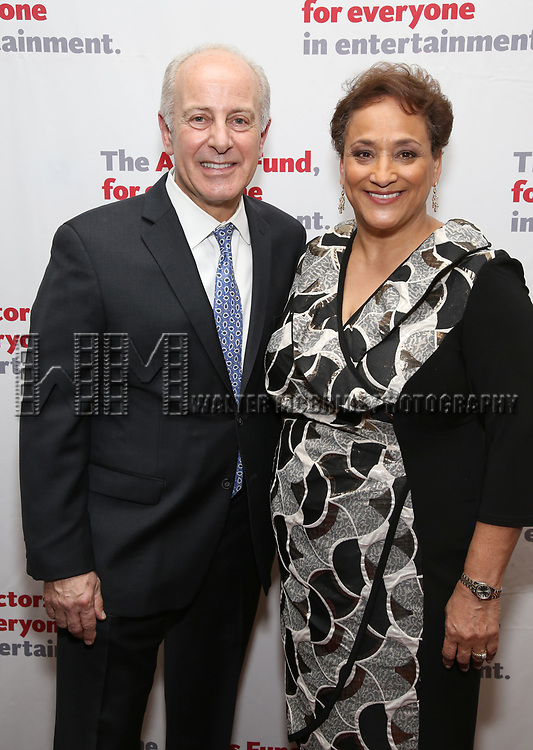 Joseph Benincasa and Jo Ann Jenkins attends The Actors Fund Annual Gala at the Marriott Marquis on 5/8//2017 in New York City.