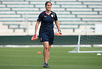 25 April 2008: United States assistant coach Erica Walsh. The United States Women's National Team held a training session in WakeMed Stadium, formerly SAS Stadium, in Cary, NC.