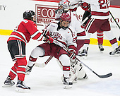 Riley Bourbonnais (RPI - 14), Viktor Dombrovskiy (Harvard - 27), Merrick Madsen (Harvard - 31) - The Harvard University Crimson defeated the visiting Rensselaer Polytechnic Institute Engineers 5-2 in game 1 of their ECAC quarterfinal series on Friday, March 11, 2016, at Bright-Landry Hockey Center in Boston, Massachusetts.