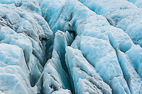 Blue crevasses on Franz Josef Glacier, Westland National Park, West Coast, World Heritage Area, South Westland, New Zealand