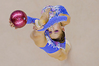 Evgenia Kanaeva (RUS) performs with the ball during the final of the 2nd Garantiqa Rythmic Gymnastics World Cup held in Debrecen, Hungary. Sunday, 07. March 2010. ATTILA VOLGYI