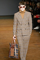 Alexander Beck walks runway in an outfit from the Marc by Marc Jacobs Fall/Winter 2011 collection, during New York Fashion Week, Fall 2011.