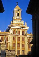 Bacardi Deco Building Havana Cuba, Golden Sunset, Republic of Cuba,