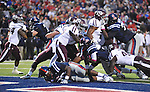 Mississippi running back Jeff Scott (3) scores on a one yard run vs. Texas A&amp;M in Oxford, Miss. on Saturday, October 6, 2012. (AP Photo/Oxford Eagle, Bruce Newman)..