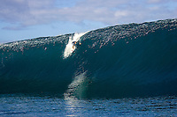 Teahupo'o Tahiti CJ Hobgood (USA) dropping down the face  at Teahupo'o during what has become known as the May Dayz swell. This wave is considered the biggest wave ever paddled into at Teahupo'o. Photo: joliphotos.com
