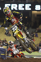 01/22/11 Los Angeles, CA:  Martin Davolos during the 1st ever AMA Supercross held at Dodger Stadium.
