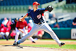4 March 2010: Washington Nationals' starting pitcher Garrett Mock on the mound during the Nationals-Astros Grapefruit League Opening game at Osceola County Stadium in Kissimmee, Florida. The Houston Astros defeated the Nationals split-squad 15-5 in Spring Training action. Mandatory Credit: Ed Wolfstein Photo