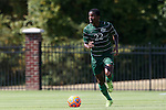 20 September 2015: Stetson's Eli Beates. The Campbell University Camels hosted the Stetson University Hatters at Eakes Athletics Complex in Buies Creek, NC in a 2015 NCAA Division I Men's Soccer game. Campbell won the game 1-0.