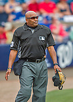 3 March 2016: MLB Umpire Laz Diaz works behind the plate during a Spring Training pre-season game between the New York Mets and the Washington Nationals at Space Coast Stadium in Viera, Florida. The Mets fell to the Nationals 9-4 in Grapefruit League play. Mandatory Credit: Ed Wolfstein Photo *** RAW (NEF) Image File Available ***