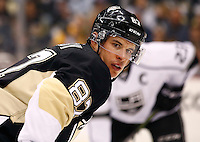 Sidney Crosby #87 of the Pittsburgh Penguins in action against the Los Angeles Kings during the game at Consol Energy Center in Pittsburgh, Pennsylvania on December 11, 2015. (Photo by Jared Wickerham / DKPS)