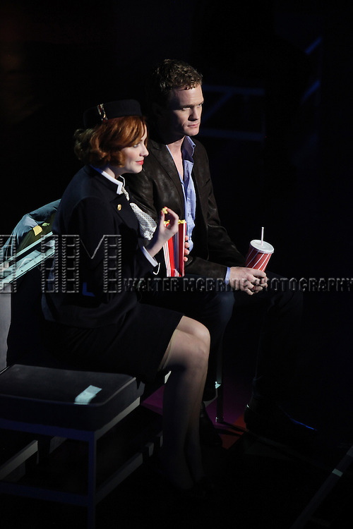 Christina Hendricks & Neil Patrick Harris.performing in the New York Philharmonic presentation of Stephen Sondheim's 'Company', A Spring Gala Benefit  in New York City.