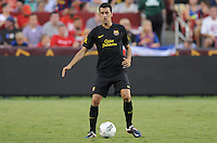 FC Barcelona midfielder Sergio Busquets (16) Manchester United defeated Barcelona FC 2-1 at FedEx Field in Landover, MD Saturday July 30, 2011.
