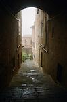 Passageway in Sienna, Italy