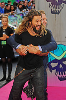 LONDON, ENGLAND - AUGUST 3: Jason Momoa and Jai Courtney attending the 'Suicide Squad' European Premiere at Odeon Cinema, Leicester Square on August 3, 2016 in London, England.<br /> CAP/MAR<br /> &copy;MAR/Capital Pictures /MediaPunch ***NORTH AND SOUTH AMERICAS ONLY***