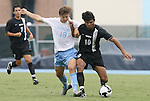 31 August 2008: UNC's Kirk Urso (18) and VCU's Gerson Dos Santos (BRA) (10). The University of North Carolina Tar Heels defeated the Virginia Commonwealth University Rams 1-0 in overtime at Fetzer Field in Chapel Hill, North Carolina in an NCAA Division I Men's college soccer game.
