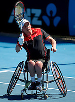Peter Norfolk (GBR) against  Johan Andersson (SWE) in the Finals of the Quad Wheelchair Singles. Norfolk beat Andersson 6-1 6-2 ..International Tennis - Australian Open Tennis - Fri 29  Jan 2010 - Melbourne Park - Melbourne - Australia ..© Frey - AMN Images, 1st Floor, Barry House, 20-22 Worple Road, London, SW19 4DH.Tel - +44 20 8947 0100.mfrey@advantagemedianet.com