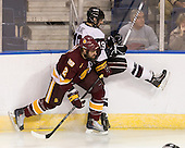 Brady Lamb (Duluth - 2), Kelly Zajac (Union - 19) - The University of Minnesota-Duluth Bulldogs defeated the Union College Dutchmen 2-0 in their NCAA East Regional Semi-Final on Friday, March 25, 2011, at Webster Bank Arena at Harbor Yard in Bridgeport, Connecticut.