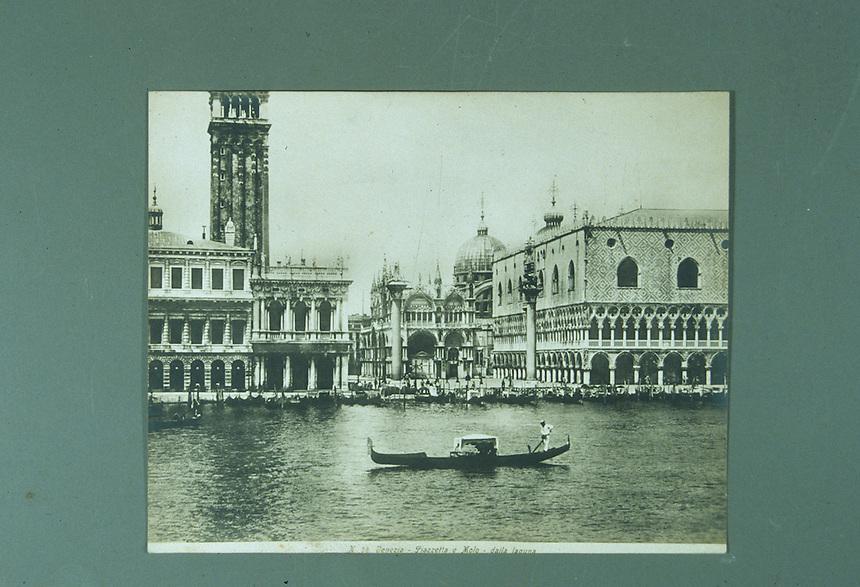 Title: Venezia-Piazzetta e Molo-dalla Laguna<br /> Type: Photo<br /> File Name: huff_cronephoto12<br /> Image checked: yes<br /> Formats: slide, c tif<br /> Notes: period photo from WSH. &quot;Venezia-Piazzetta e Molo dalla laguna&quot;